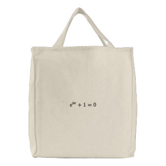 Utility bag: Euler's identity embroidered, large, Embroidered Bag