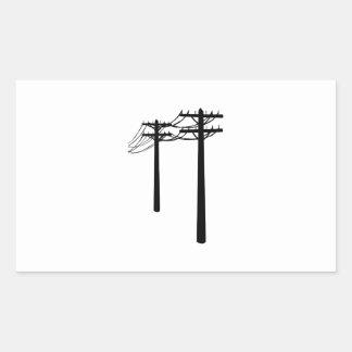 Utility Lines Rectangular Sticker