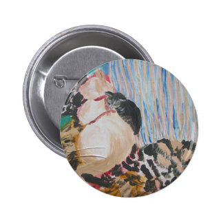 Utopia and Pip by Wendy C Allen 6 Cm Round Badge