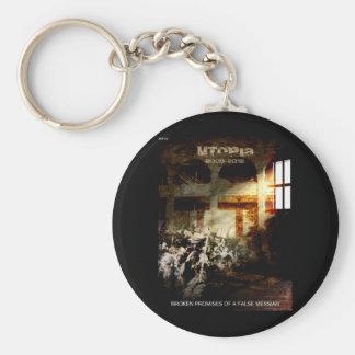 Utopia Basic Round Button Key Ring