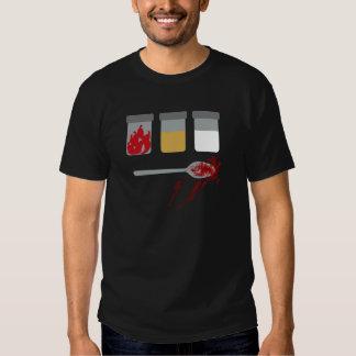 Utopia: Chillies, sand, bleach, a spoon. Tee Shirt