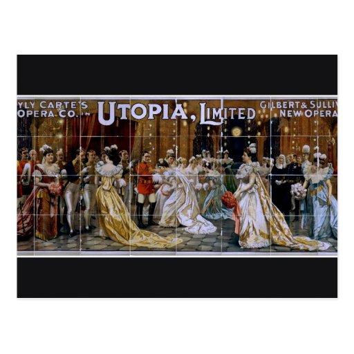 Utopia, Limited Vintage Theater Postcard