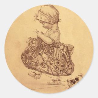Utopia Yarn Round Sticker