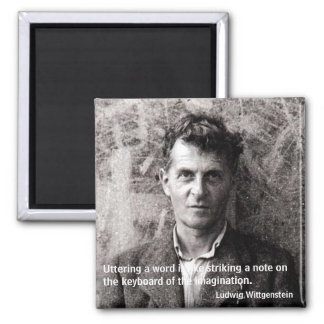 Uttering a word is like striking ... square magnet