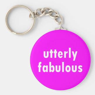 utterly fabulous basic round button key ring