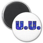 UU Blue Religious Symbols Magnet