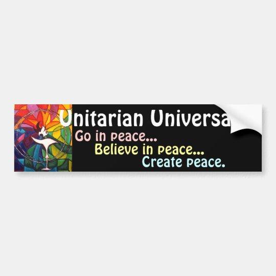 UU Chalice Bumper Sticker Unitarian Universalist