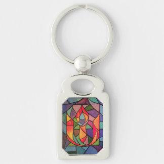 UU Flaming Chalice Artwork Keychain Unitarian