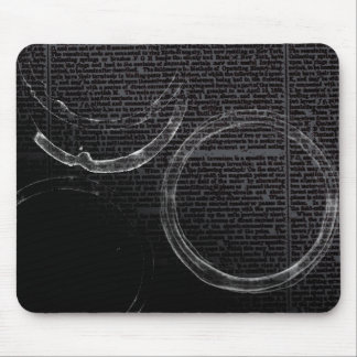 uv looking coffee stains mouse pad
