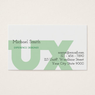 UX Designer Business Card