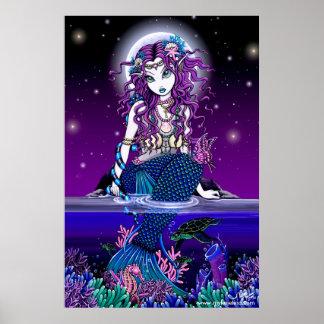 Uxia Twilight Moon Mermaid Poster