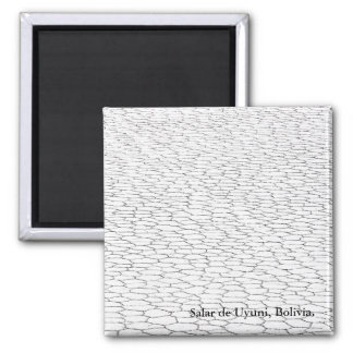 Uyuni Salt Flats View Square Magnet