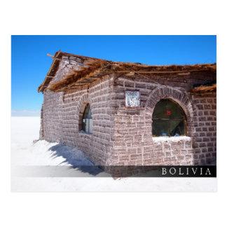 Uyuni salt hotel in Bolivia Postcard