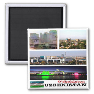 UZ - Uzbekistan - Mosaic - Collage Magnet