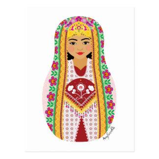 Uzbek Matryoshka Postcard