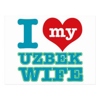 uzbek  Wife Postcard