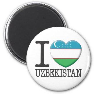 Uzbekistan 6 Cm Round Magnet