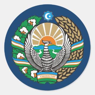 """""""Uzbekistan COA"""" Classic Round Sticker"""