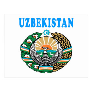 Uzbekistan Coat Of Arms Designs Postcard