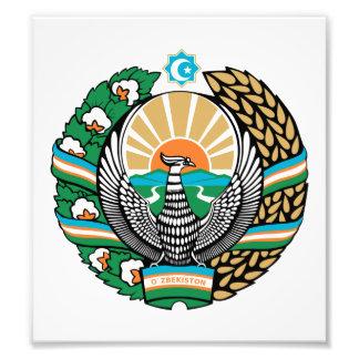 Uzbekistan Coat Of Arms Photo Art
