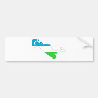 uzbekistan country flag map shape symbol bumper sticker