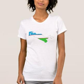 uzbekistan country flag map shape symbol T-Shirt