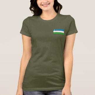 Uzbekistan Flag and Map dk T-Shirt