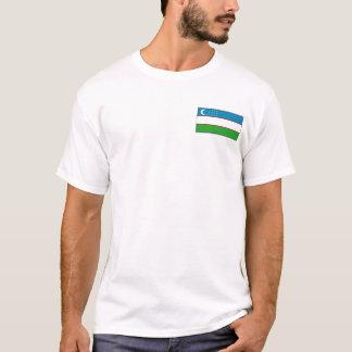 Uzbekistan Flag and Map T-Shirt