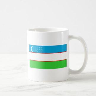 Uzbekistan flag coffee mug