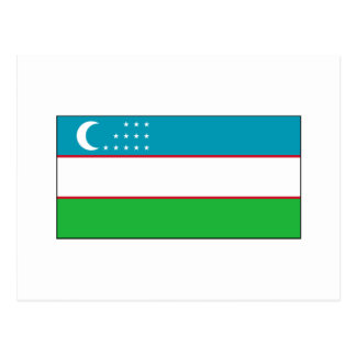 Uzbekistan FLAG International Postcard