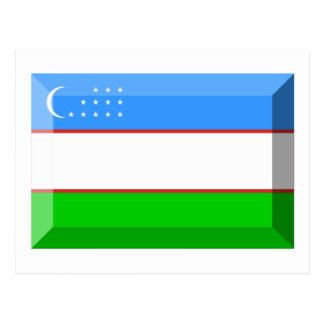 Uzbekistan Flag Jewel Postcards