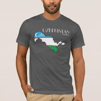 Uzbekistan Flag Map Shirt