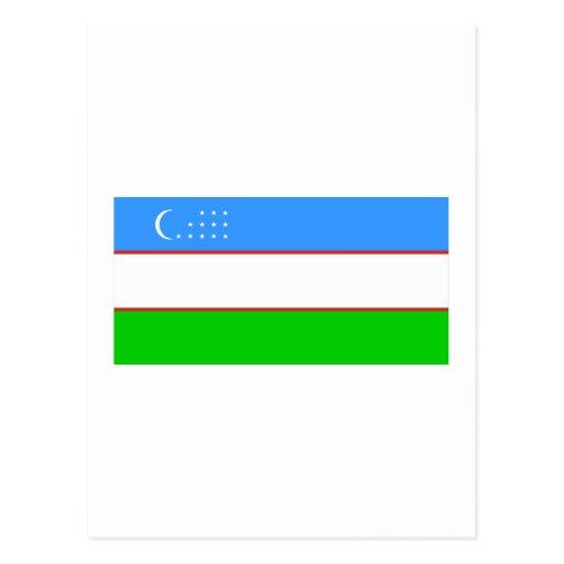Uzbekistan Flag Post Cards