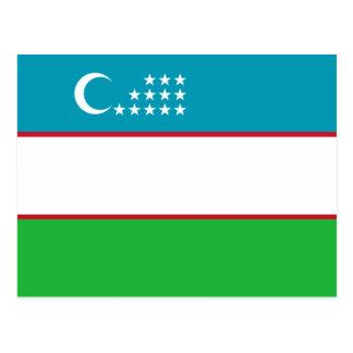 Uzbekistan Flag Postcard