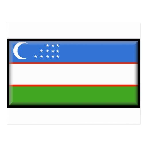 Uzbekistan Flag Post Card