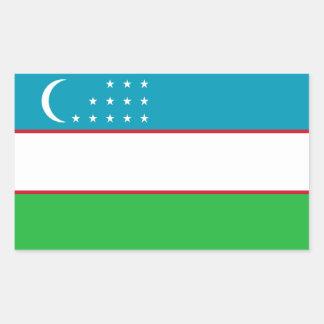 Uzbekistan Flag Rectangular Sticker
