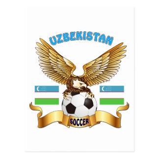 Uzbekistan Football Designs Postcard