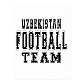 Uzbekistan Football Team Postcard