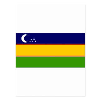 Uzbekistan KaraKalpak Flag Postcard