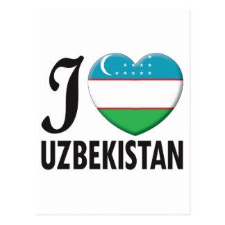 Uzbekistan Love Postcard