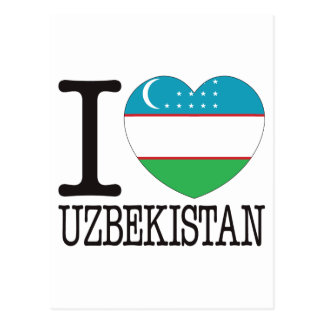 Uzbekistan Love v2 Postcard