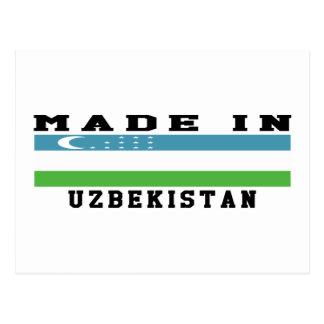 Uzbekistan Made In Designs Postcard
