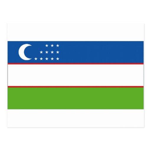 Uzbekistan National Flag Post Card