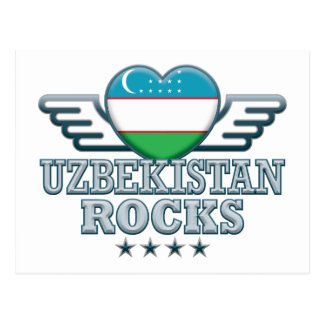 Uzbekistan Rocks v2 Postcard