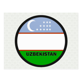 Uzbekistan Roundel quality Flag Postcard