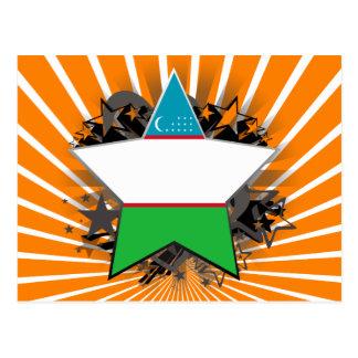 Uzbekistan Star Postcard