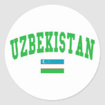 Uzbekistan Style Round Stickers