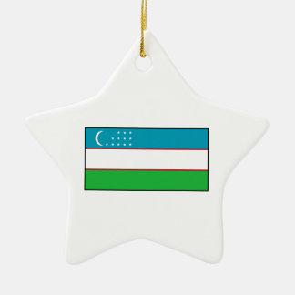 Uzbekistan – Uzbek Flag Christmas Ornaments