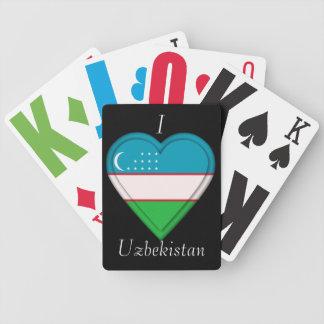 Uzbekistan Uzbekistani flag Bicycle Playing Cards