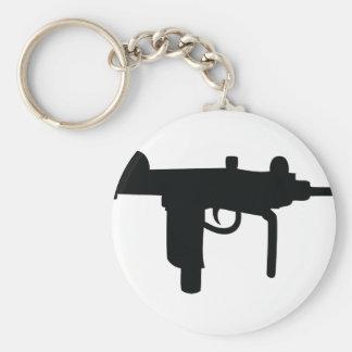 Uzi gun weapon icon key ring